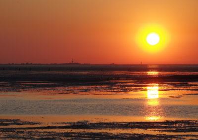 Sonnenuntergang über Neuwerk