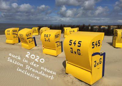 Strandkorb mit Text 2020
